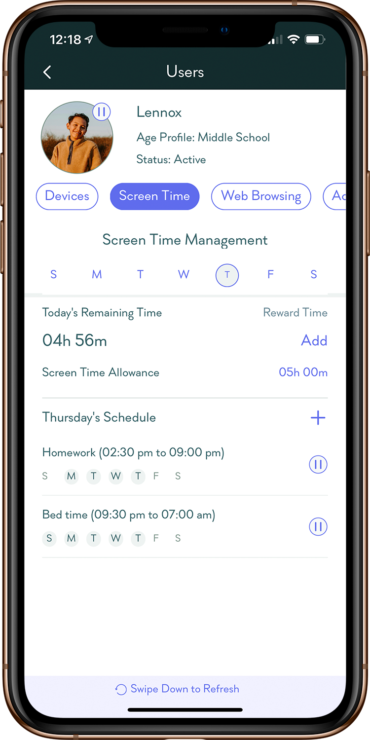 Gryphon: Screen Time Management